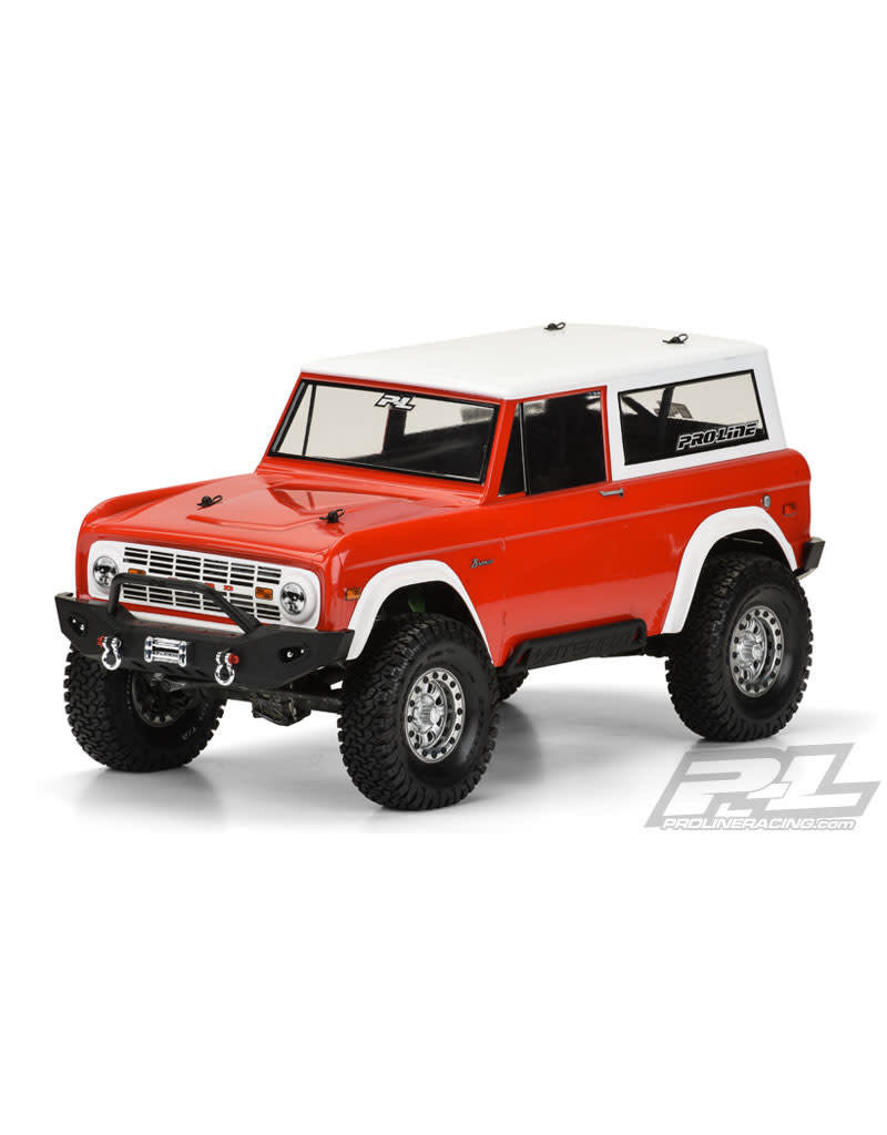 PROLINE RACING PRO331360 1973 FORD BRONCO CLEAR BODY: 1/10 ROCK CRAWLER