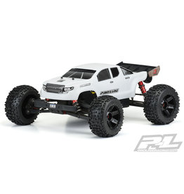 PROLINE RACING PRO3526-15 PRE CUT BRUTE BASH ARMOR WHITE BODY: OUTCAST/ NOTORIUS