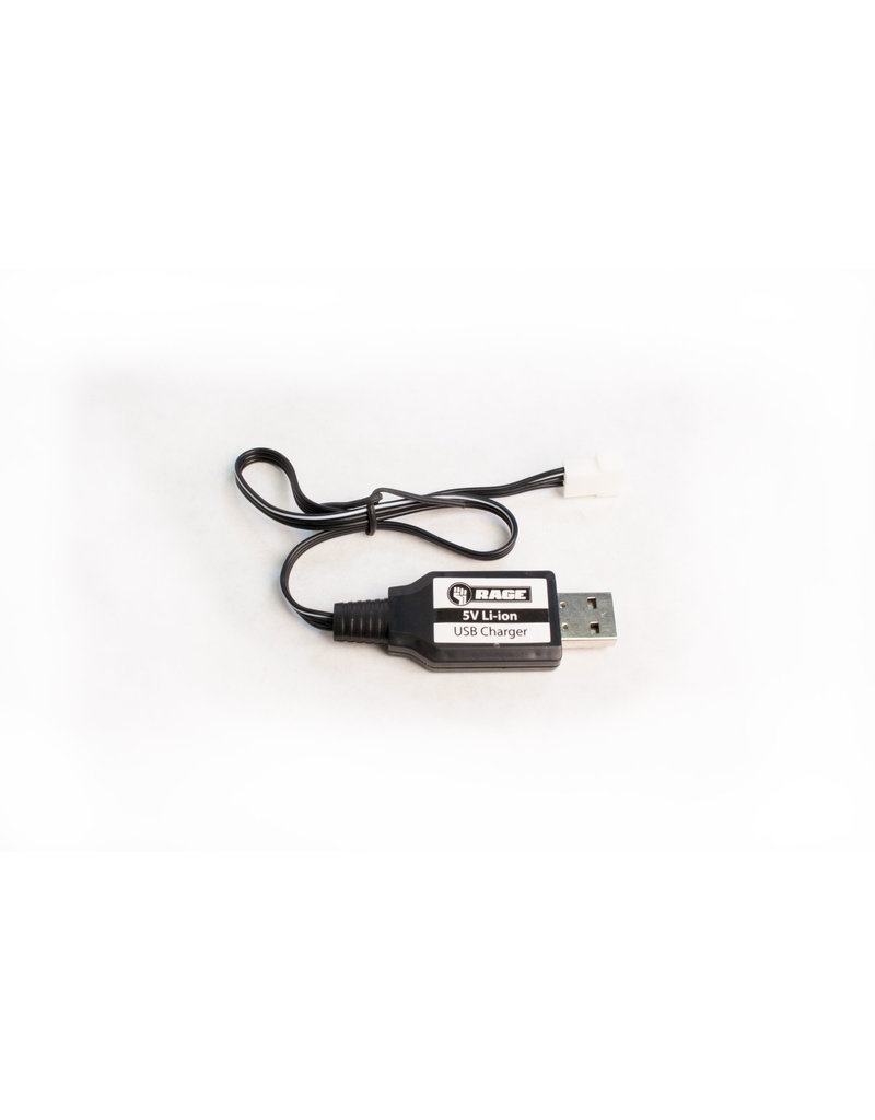 RAGE RGRB1123 USB CHARGER: BLACK MARLIN