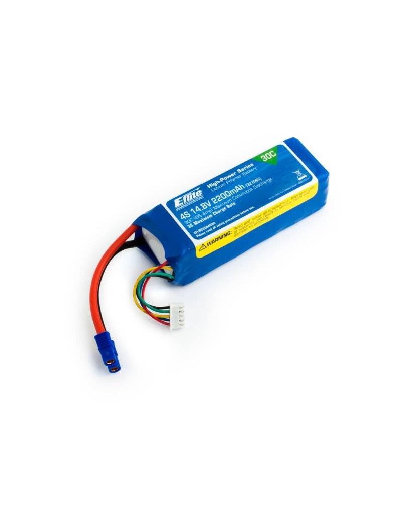 E-FLITE EFLB22004S30 14.8V 2200MAH 30C LIPO: EC3