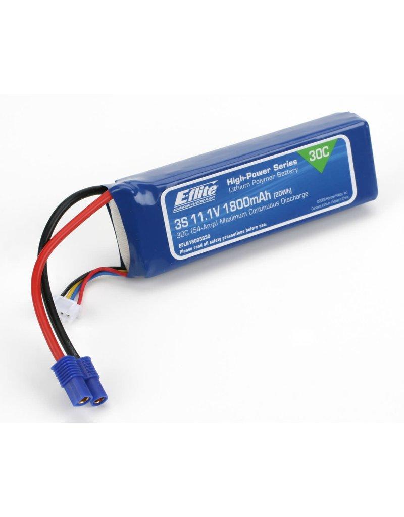 E-FLITE EFLB18003S30 LIPO 3S 1800mAH 30C