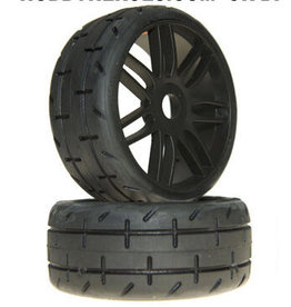 GRP TYRES GTX01-S5 1/8 GT THREADED S5 TIRES: BLACK