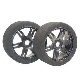 HOBBY HEROES HHBSR25 BLACK SPOKE BSR FOAM TIRES: 25 SHORE
