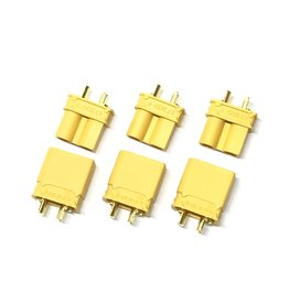 MACLAN RACING MCL4129 XT30U MALE/FEMALE CONNECTOR (3 PAIRS)