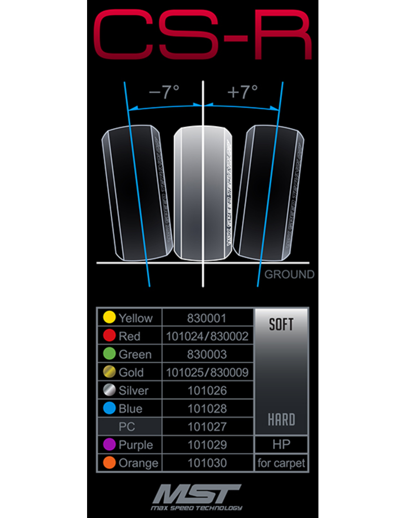 MST MXS101024 MST CS-R TIRES SOFT 4 PCS
