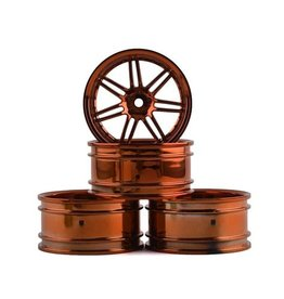 MST MXS-102042C MST X603 WHEEL SET (COPPER) (4) (+11 OFFSET)