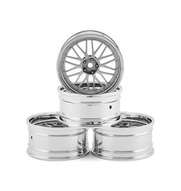 MST MXS102086FS MST LM WHEEL SET (FLAT SILVER) (4) (OFFSET CHANGEABLE)