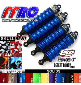 FULLFORCE RC FULLFORCE RC LOSI 5IVE-T SHOCK BOOTS BLUE (4PCS)