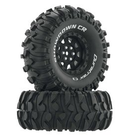 "DURATRAX DTXC4034 SHOWDOWN CR C3 MOUNTED 1.9"" CRAWLER BLACK (2)"