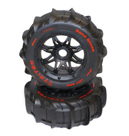 TRITON RACING TT322 TRITON PADDLE TIRES AND WHEELS