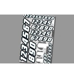 XXX MAIN RACING XMAN002 RACE NUMBERS WHITE