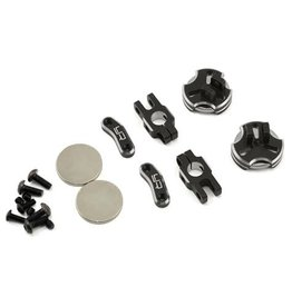 YEAH RACING YA-0531BK ALUMINUM CNC MAGNETIC INVISIBLE BODY MOUNT