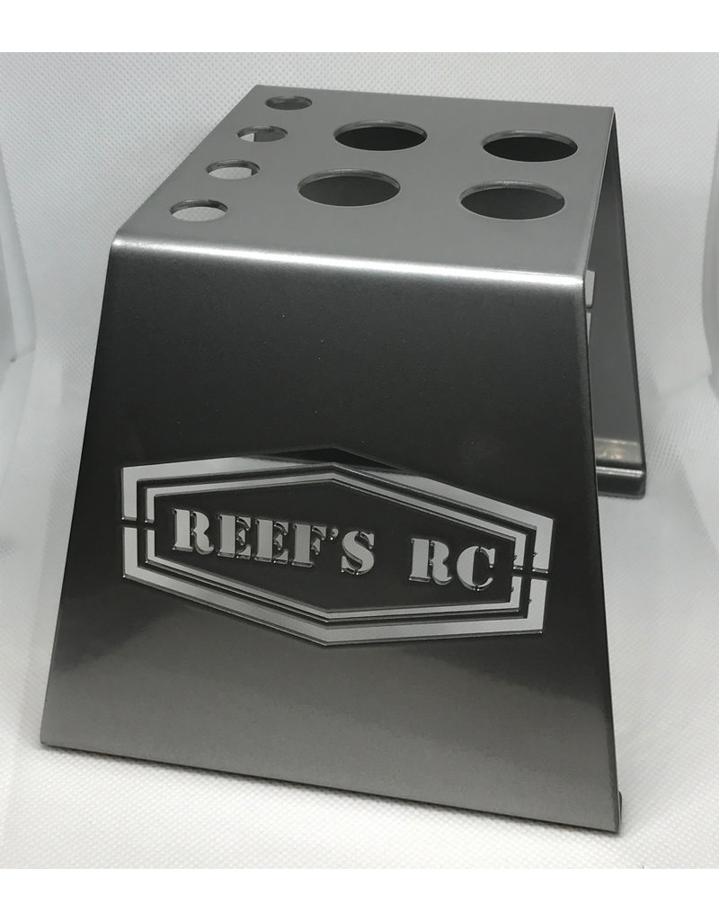 REEFS RC SEHREEFS39  STEEL CAR STAND WITH SHOCK HOLES