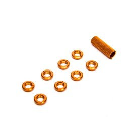 SPEKTRUM SPMA1303 SPEKTRUM RADIO SWITCH NUTS: ORANGE
