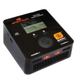 SPEKTRUM SPMXC1010 SMART S2100 AC CHARGER, 2x100W