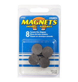 MAGNET SOURCE MS07003 CERAMIC ROUND MAGNETS (8)