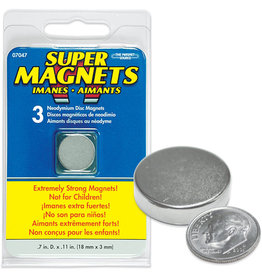 MAGNET SOURCE TMS07047 NEODYMIUM DISC MAGNETS (3)