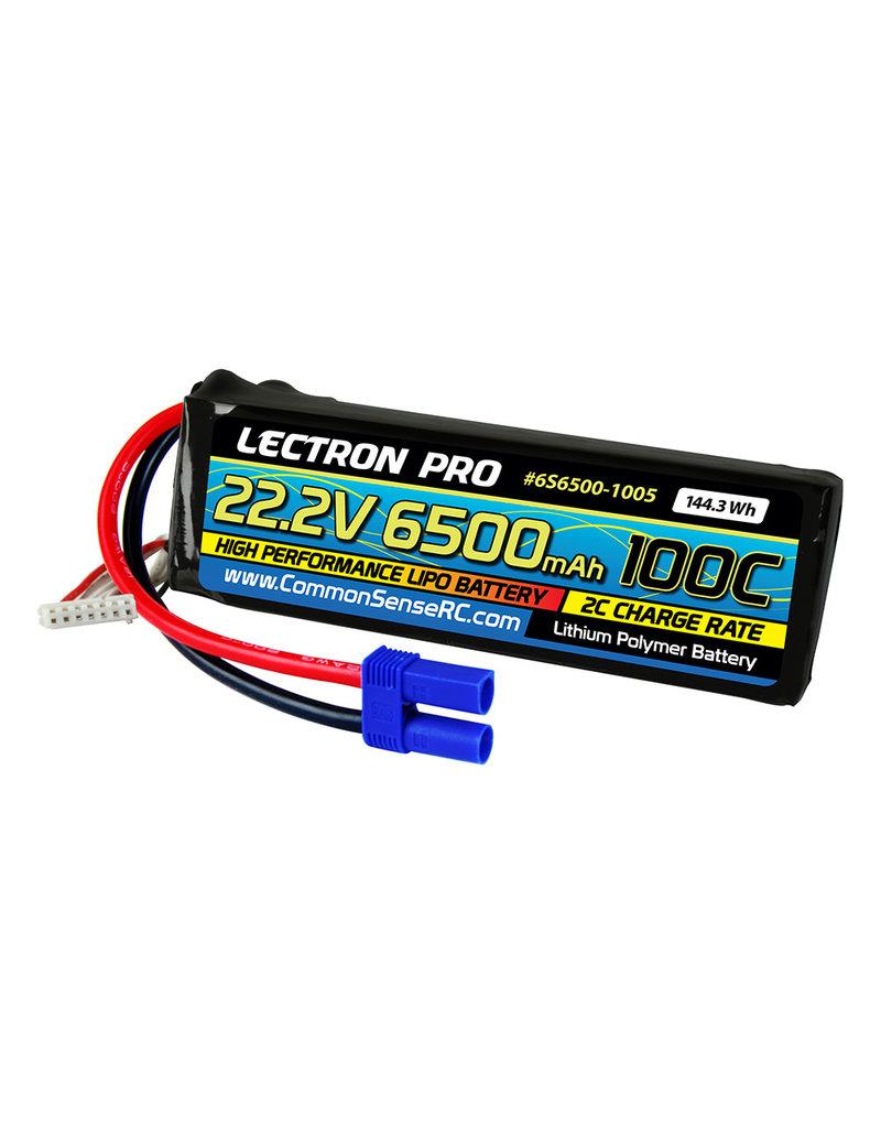 LECTRON PRO LECTRON PRO 6S LIPO 22.2V 6500MAH 100C BATTERY: EC5