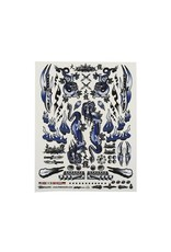 "FIRE BRAND RC FBR1DECDBL191 FIREBRAND RC CONCEPT DRAGON DECAL (BLUE) (8.5x11"")"