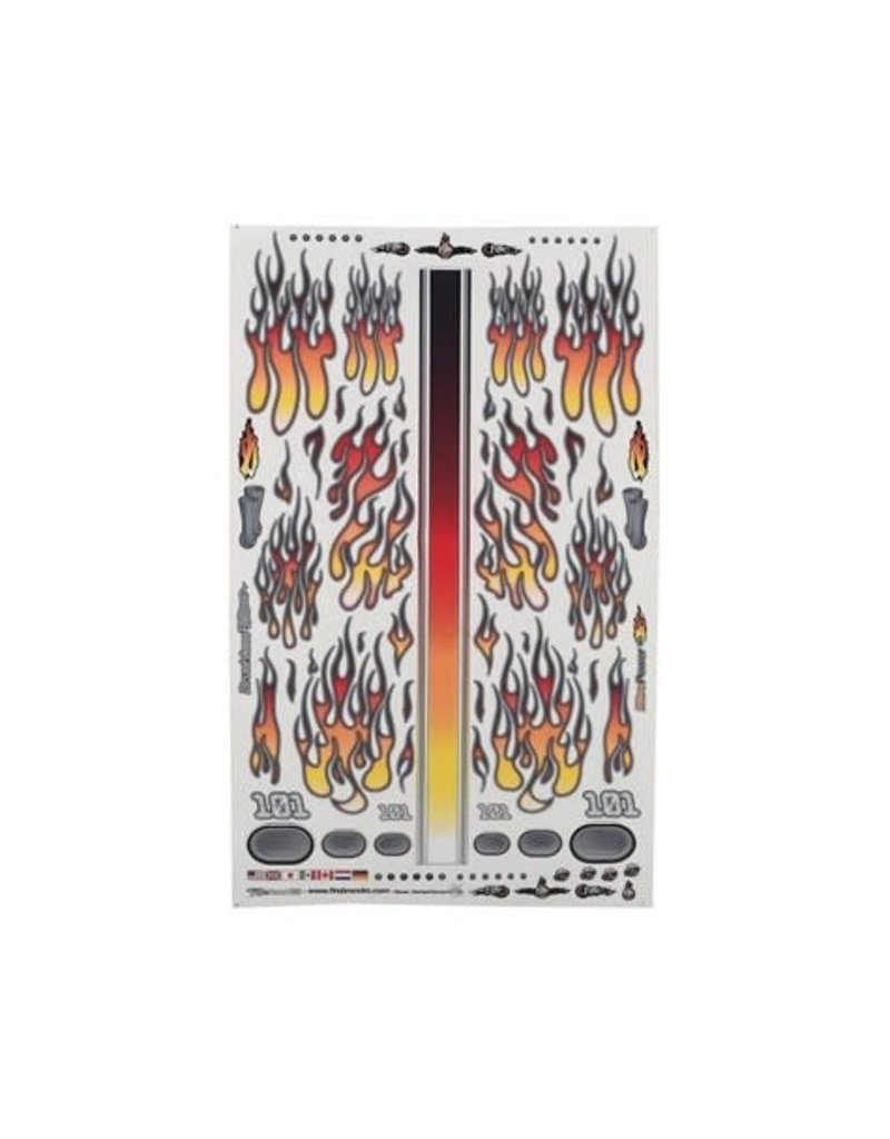 "FIRE BRAND RC FBR1DECFLR412 FIREBRAND RC FLAMES FIRE FADE DECAL SHEET (ORANGE/RED) (8.5x14"")"