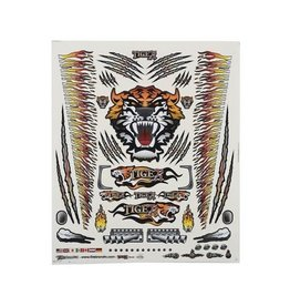 "FIRE BRAND RC FBR1DECTOR146 FIREBRAND RC CONCEPT TIGER DECAL ORANGE (8.5X11"")"