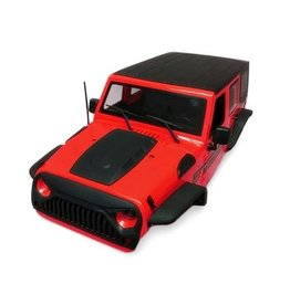 XTRA SPEED XTA-XS-59765AR XTTRA SPEEDJEEP WRANGLER HARD PLASTIC BODY RED