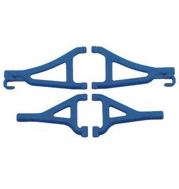 RPM RPM80695 FRONT UPPER & LOWER A-ARM SET 1/16 E-REVO BLUE