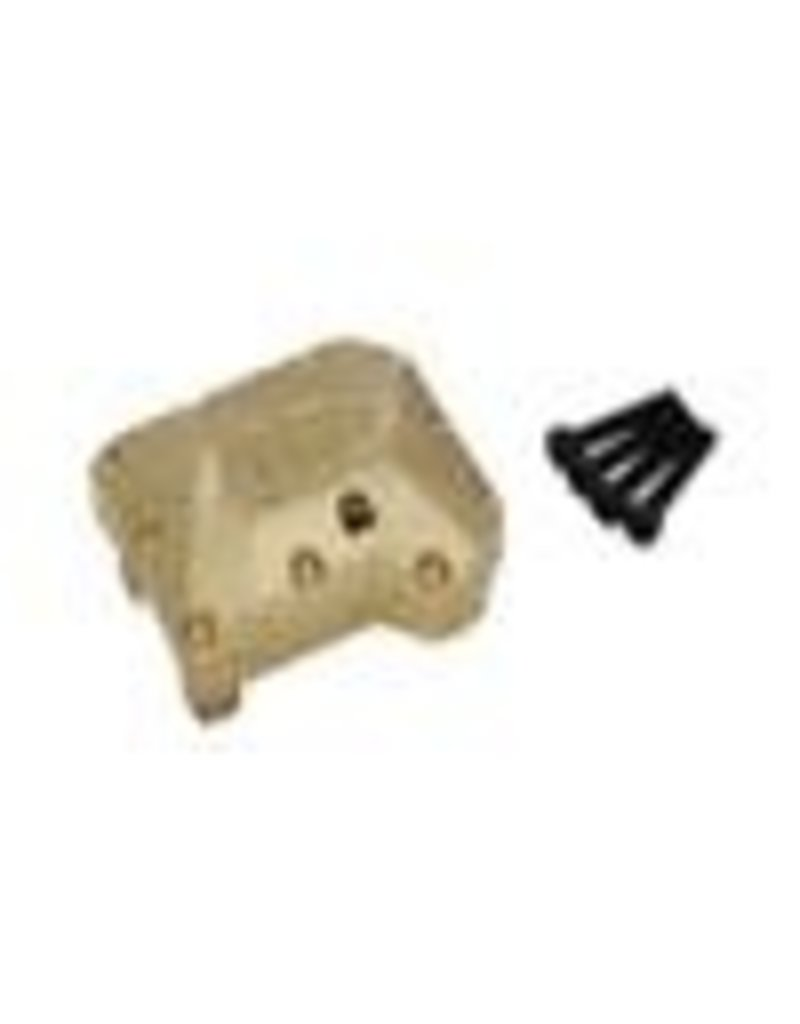 HOT RACING HRATRXF12CH01 BRASS HEAVY METAL AXLE DIFFERENTIAL COVER: TRX 4
