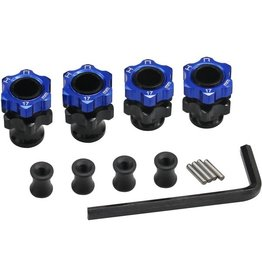 HOT RACING HRATE117FL LIGHTWEIGHT 17MM ALUMINUM HUBS