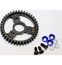 HOT RACING HRASRVO440 STEEL SPUR GEAR 40T 1.0 MOD BLUE TRAXXAS