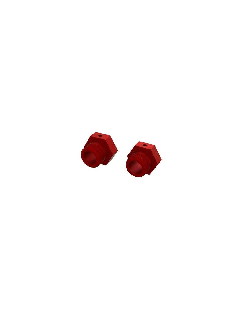 ARRMA ARA310928 ALUMINUM WHEEL HEX 24MM: RED (2)
