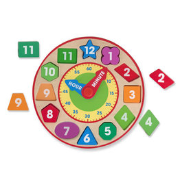 MELISSA & DOUG MD8593 SHAPE SORTING CLOCK
