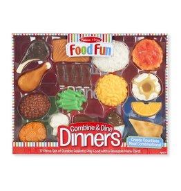 MELISSA & DOUG MD8267 FOOD FUN COMBINE & DINE DINNERS - RED