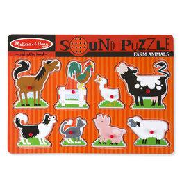 MELISSA & DOUG MD726 FARM ANIMALS SOUND PUZZLE
