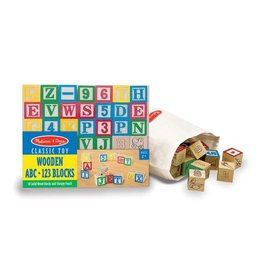 MELISSA & DOUG MD1900 WOODEN ABC/123 BLOCKS (UC)
