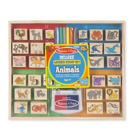 MELISSA & DOUG MD2394 DELUXE WOODEN STAMP SET - ANIMALS