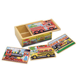 MELISSA & DOUG MD3794 VEHICLE PUZZLES IN A BOX