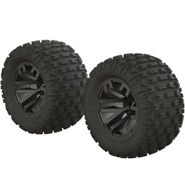 ARRMA AR550045 1/10 DBOOTS  FORTRESS MT 2.2/3.0 TIRES 14MM: BLACK CRHOME (2)