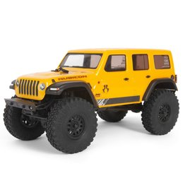 AXIAL AXI00002T2 1/24 SCX24 2019 JEEP WRANGLER JLU CRC 4WD RTR: YELLOW