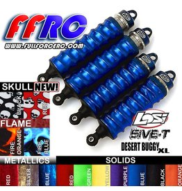 FULLFORCE RC FULLFORCE RC LOSI 5IVE-T SHOCK BOOTS RED (4PCS)