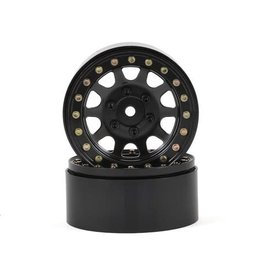"SSD RC SSD00003 1.9"" STEEL D HOLE BEADLOCK WHEELS BLACK"