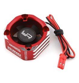 YEAH RACING YEA-YA-0576RD ALUMINUM CASE 30X30MM BOOSTER FAN RED