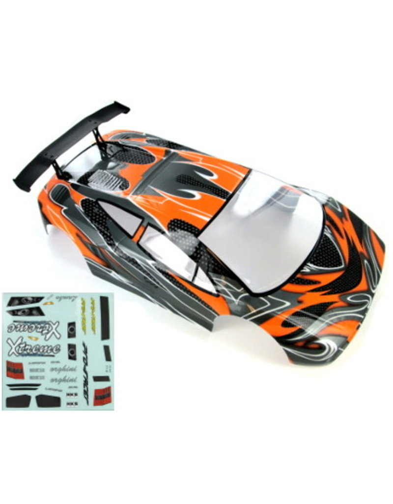 REDCAT RACING 10030-1 ON ROAD CAR BODY: ORANGE/BLACK