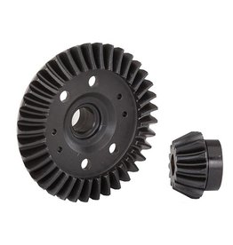 TRAXXAS TRA6879R RING GEAR, DIFFERENTIAL/ PINION GEAR, DIFFERENTIAL (MACHINED, SPIRAL CUT) (REAR)