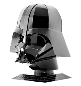 METAL EARTH MMS314 DARTH VADER HELMET - BLACK STAR WARS (2  SHEETS)