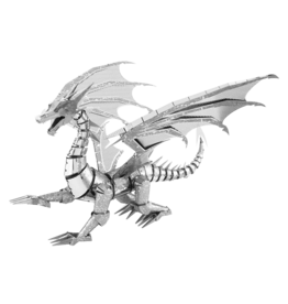 METAL EARTH ICX023 SILVER DRAGON  (3  SHEETS)