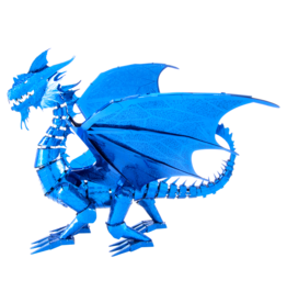 METAL EARTH ICX114 BLUE DRAGON - COLOR (3  SHEETS)