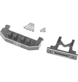 HOT RACING HRASXTF3201 ALUMINUM REAR BODY MOUNT SUPPORT SCX24