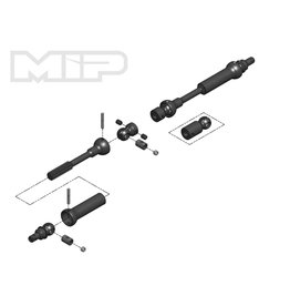 MIP MIP18180 X-DUTY CENTER DRIVE KIT 95MM TO 130MM W/ 5MM HUBS VATERRA K5, K10 ASCENDER BRONCO
