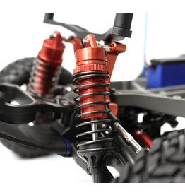 RACERS EDGE RCE1849R SLASH 2WD ALUMINUM FRONT SHOCKS RED